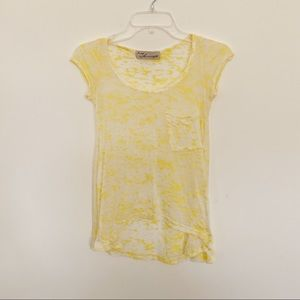 Vintage Havana sheer pale yellow top